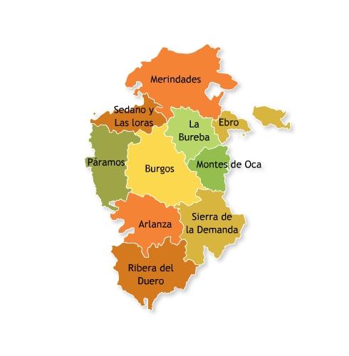 Mapa Turistico Burgos Provincia.Hotel Rural El Balcon De Montija Turismo Rural En Burgos